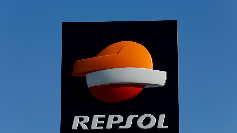 Logo de Repsol.