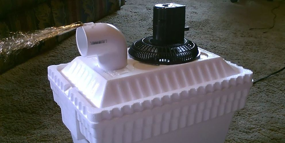 Un aparato de aire acondicionado casero y 'low cost'
