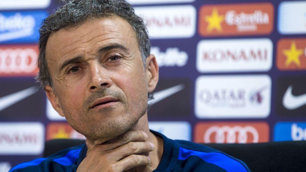 Foto: Luis Enrique durante una conferencia de prensa en su etapa como entrenador del Barcelona. (Efe)