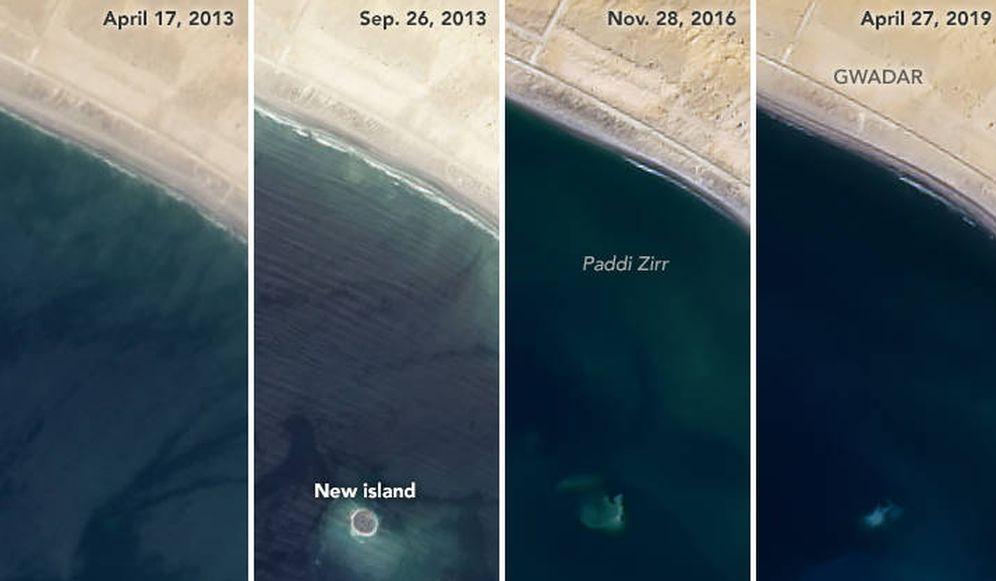 Foto: Imagen de Zalzata Koh desde el 17 de abril de 2013 al 27 de abril de 2019. (NASA)