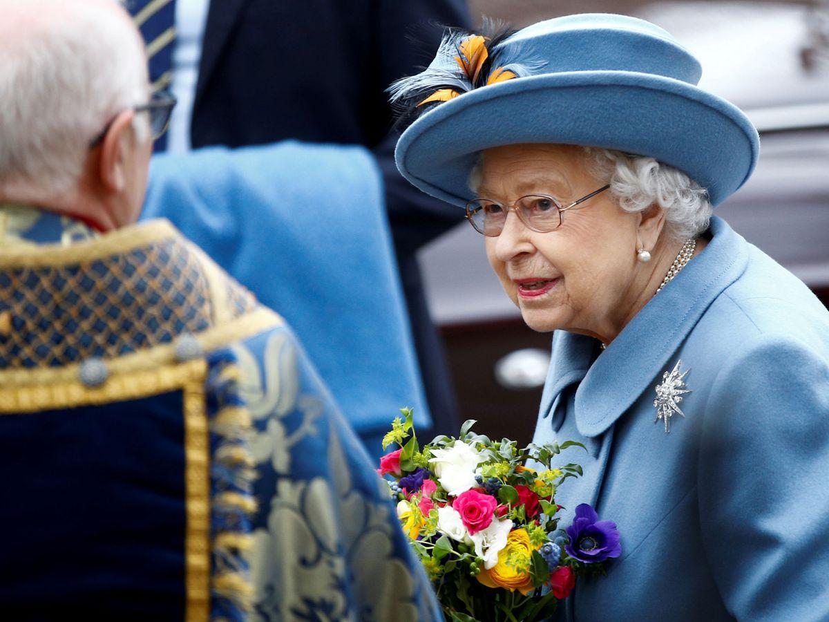 Foto: La reina Isabel, en la misa por el Día de la Commonwealth. (Reuters)