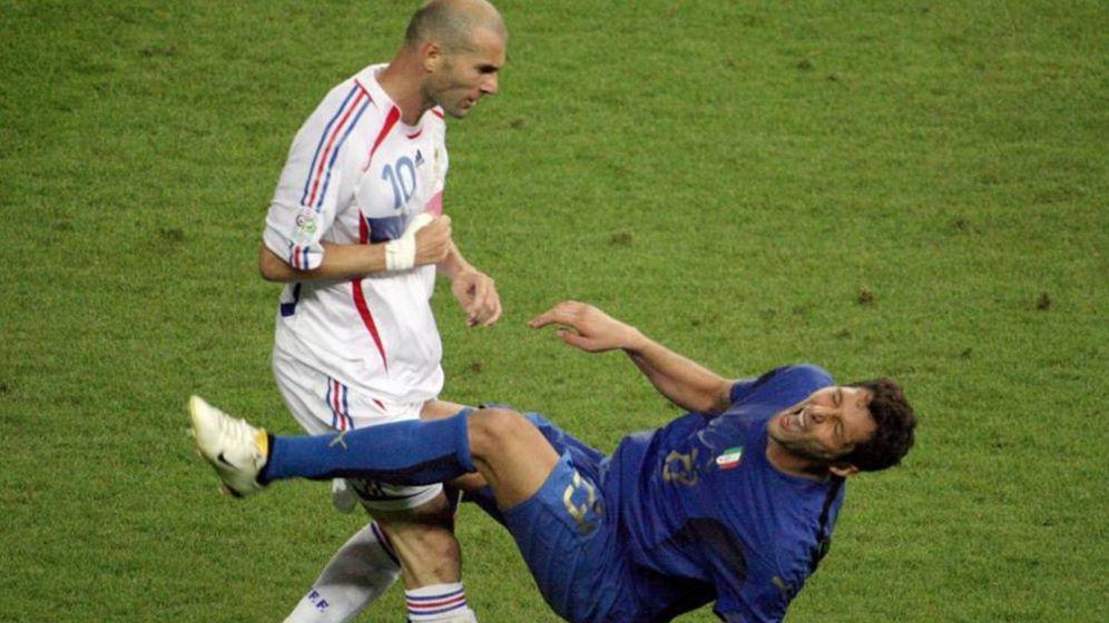 Foto: Imagen del cabezazo de Zidane a Materazzi en la final del Mundial de 2006