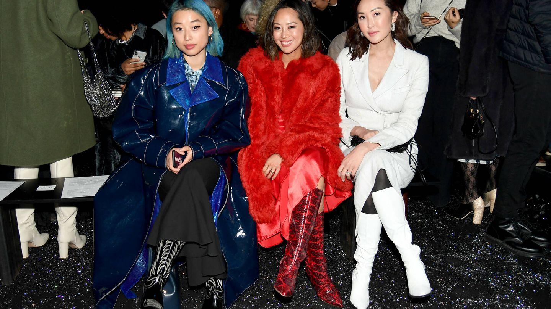 Margaret Zhang, Aimee Song y Chriselle Lim. (Getty)