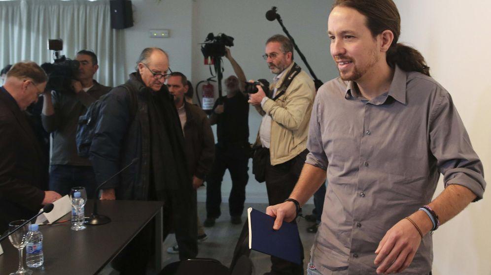Foto: Pablo Iglesias, durante la presentación del Consejo Internacional de Economía de Podemos, que han asesorado en el programa económico. (EFE)