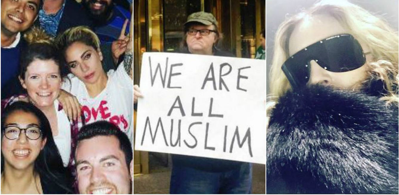 Foto: Lady Gaga, Michael Moore y Madonna