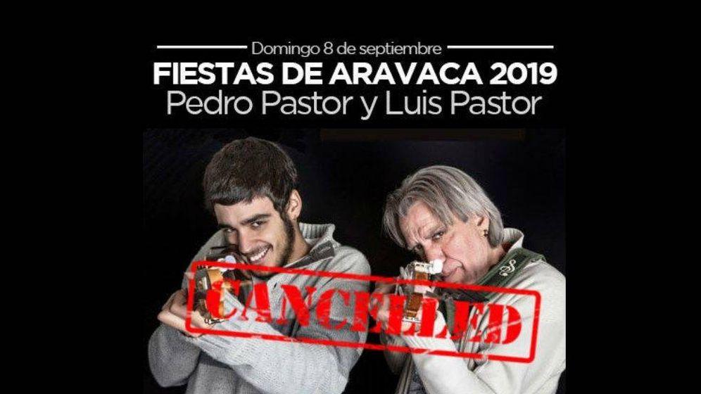 Foto: Concierto de Pedro Pastor cancelado en Aravaca
