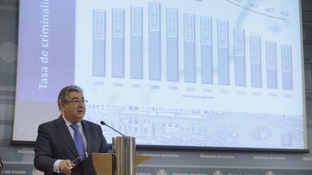 Foto: Juan Ignacio Zoido presenta el balance de criminalidad. (Efe)