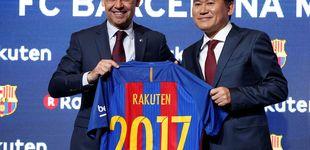 Post de El Barcelona anuncia que Rakuten es su nuevo patrocinador principal