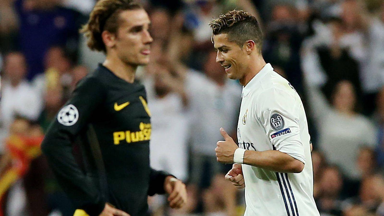 Foto: Antoine Griezmann, desolado tras uno de los goles de Cristiano Ronaldo. (Reuters)