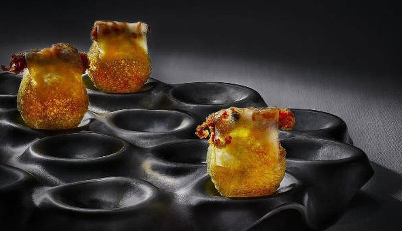 Foto: Ramón Freixa propone este pan souflé con puntilitas y panceta ibérica