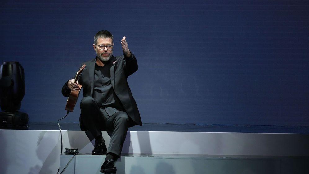 Foto: Quequé durante los Premios Odeón (EFE/Juanjo Martín)