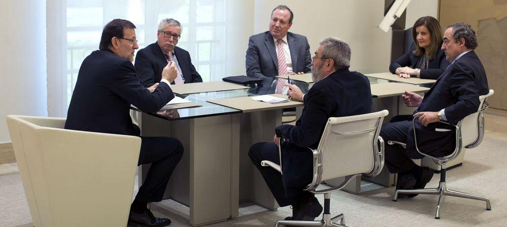 Foto: Rajoy se reúne con los interlocutores sociales. (EFE)