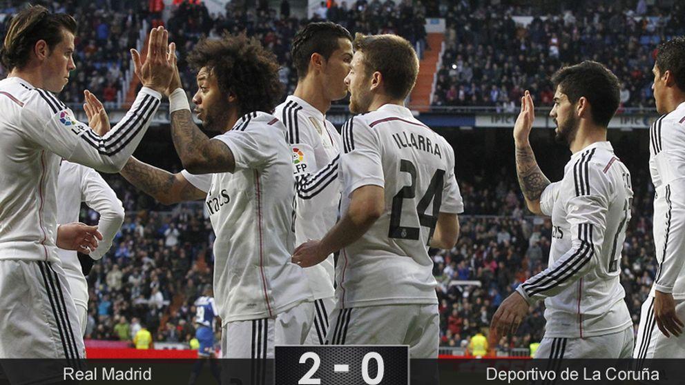 El Real Madrid gana al Deportivo con más eficacia que confianza