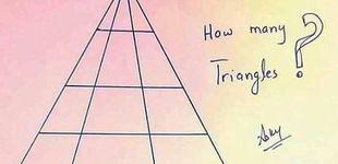 Post de ¿Cuántos triángulos ves? El rompecabezas que confunde a internet