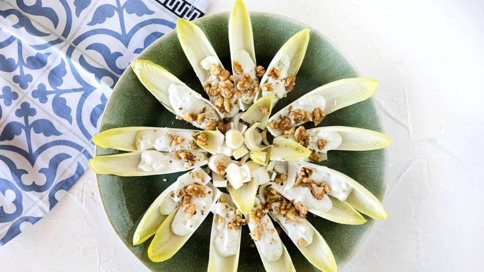 Foto: Endibias con queso azul. (Snaps Fotografía)