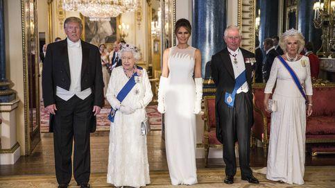 Isabel, Camilla, Melania y Kate: póquer de damas en blanco en Buckingham