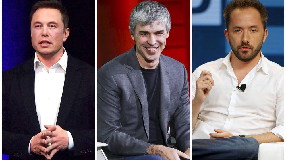 Foto: Elon Musk, Larry Page y Drew Houston, tres de las personas más influyentes del mundo.