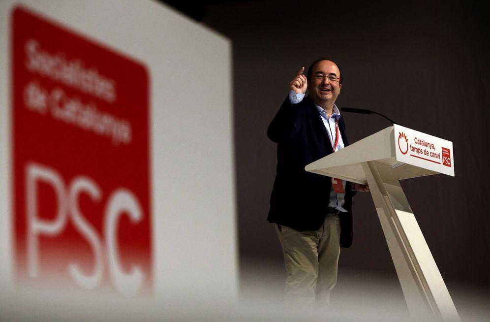 Foto: Miquel Iceta, durante su discurso en el XIII Congreso del PSC tras ser ratificado como primer secretario, este 5 de noviembre en Barcelona. (EFE)