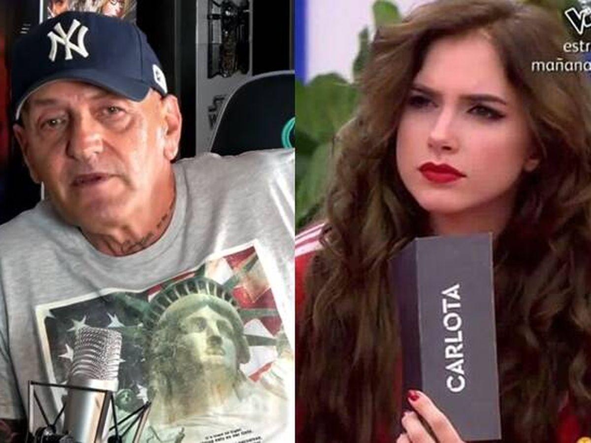 Foto: Coto Matamoros y Carlota Prado. (Youtube y Mediaset España)