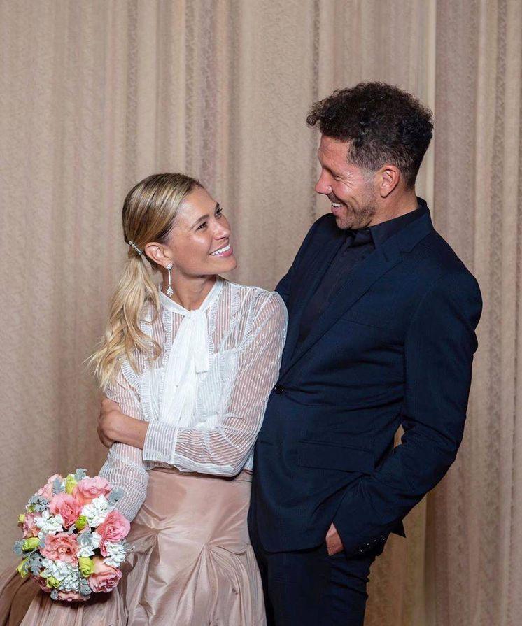 Foto:  Carla y Simeone, en su primera boda. (IG)