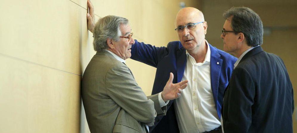 Foto: Xavier Trias junto a Duran Lleida y Artur Mas. (EFE)