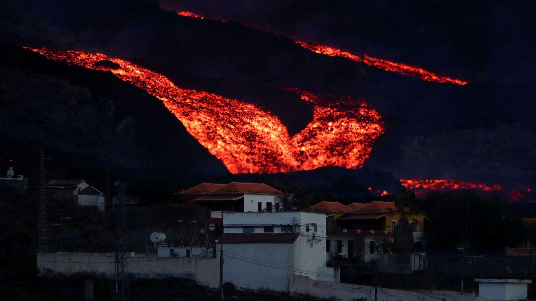 La colada de lava se ralentiza en La Palma. (Reuters)