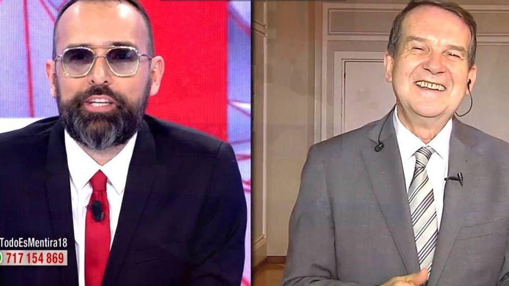 Foto: Risto Mejide y Abel Caballero, alcalde de Vigo, en 'Todo es mentira'. (Mediaset)