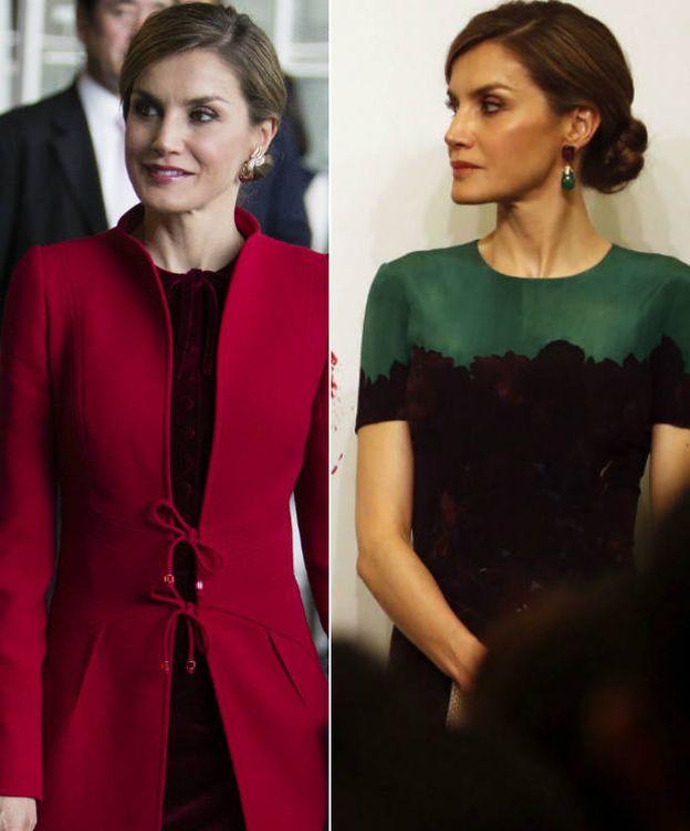 Foto: Los dos primeros looks de la Reina