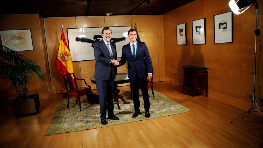 Foto: Mariano Rajoy, junto a Albert Rivera el pasado miércoles (Reuters).