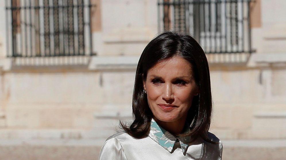 Foto: La reina Letizia, en el Palacio de Aranjuez. (EFE)