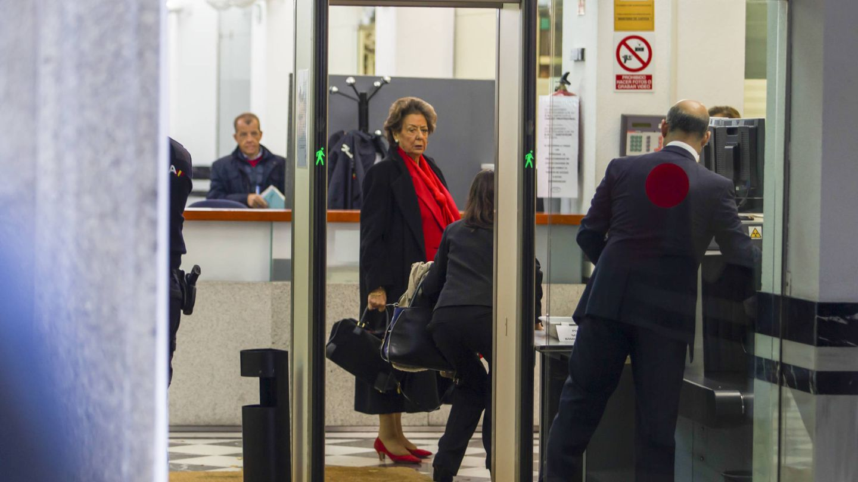 Rita Barberá, en el Tribunal Supremo.  (Gtres)