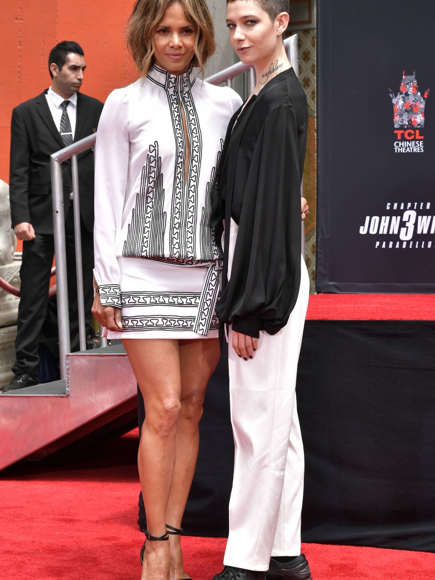 Halle Berry y Asia Kate. (Getty)