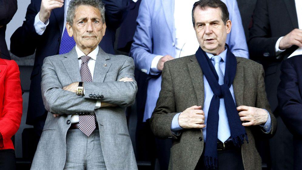 Foto: Carlos Mouriño, presidente del Celta, y Abel Caballero, alcalde de Vigo. (EFE)