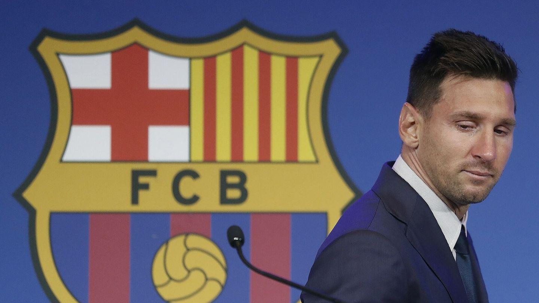Leo Messi, en su despedida del Barcelona. (Reuters)