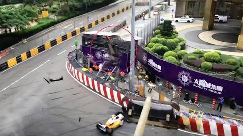 Escalofriante accidente en Macao: un monoplaza vuela en la Fórmula 3
