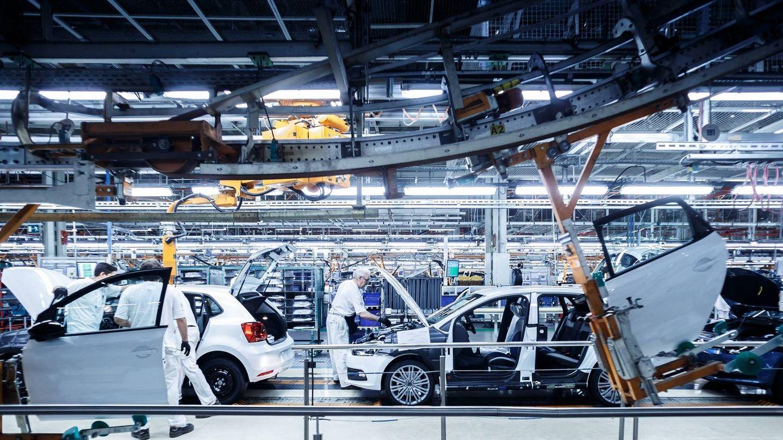 Fabricación del Volkswagen Polo en la planta de Landaben, en Navarra.