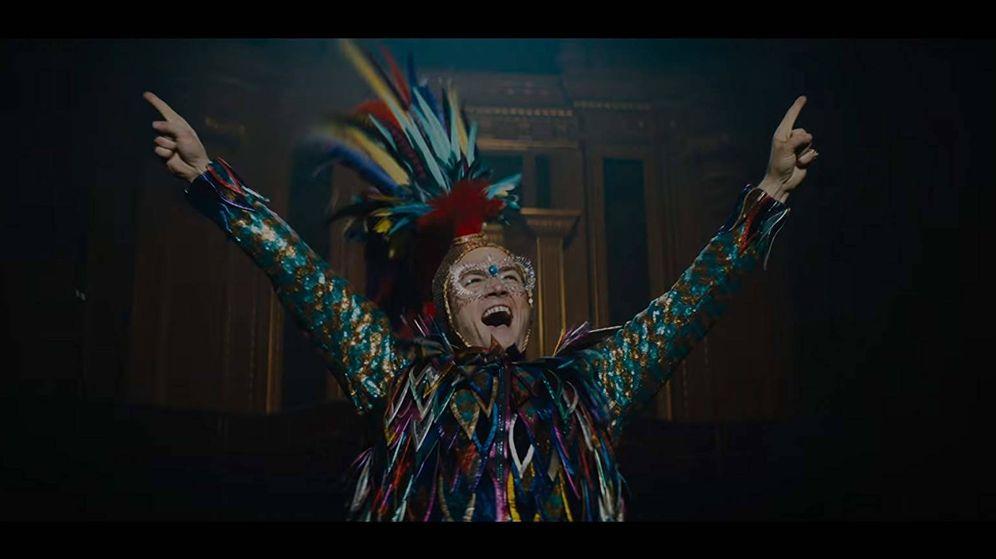 Foto: Taron Egerton interpreta a Elton John en 'Rocketman'.