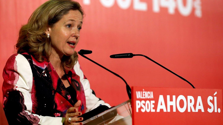 La ministra de Economía en funciones, Nadia Calviño. (EFE)