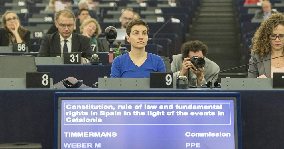 Foto: La líder de los Verdes en la Eurocámara, Ska Keller, durante un debate en Estrasburgo. (EFE)