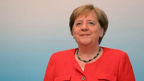 Merkel participa en una conferencia