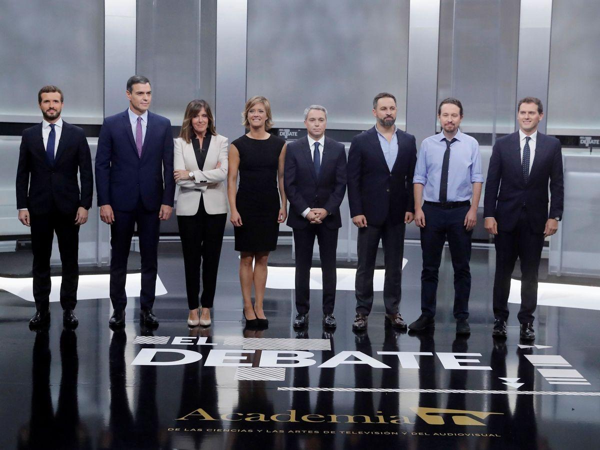 Foto: Debate de los candidatos a la Moncloa. (EFE)