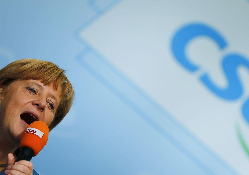 Foto: La canciller, Angela Merkel, durante un mitin de los democristianos en Miesbach. (Reuters)