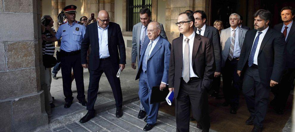 Foto: Jordi Pujol, ante la Comisión de Asuntos Institucionales del Parlament.