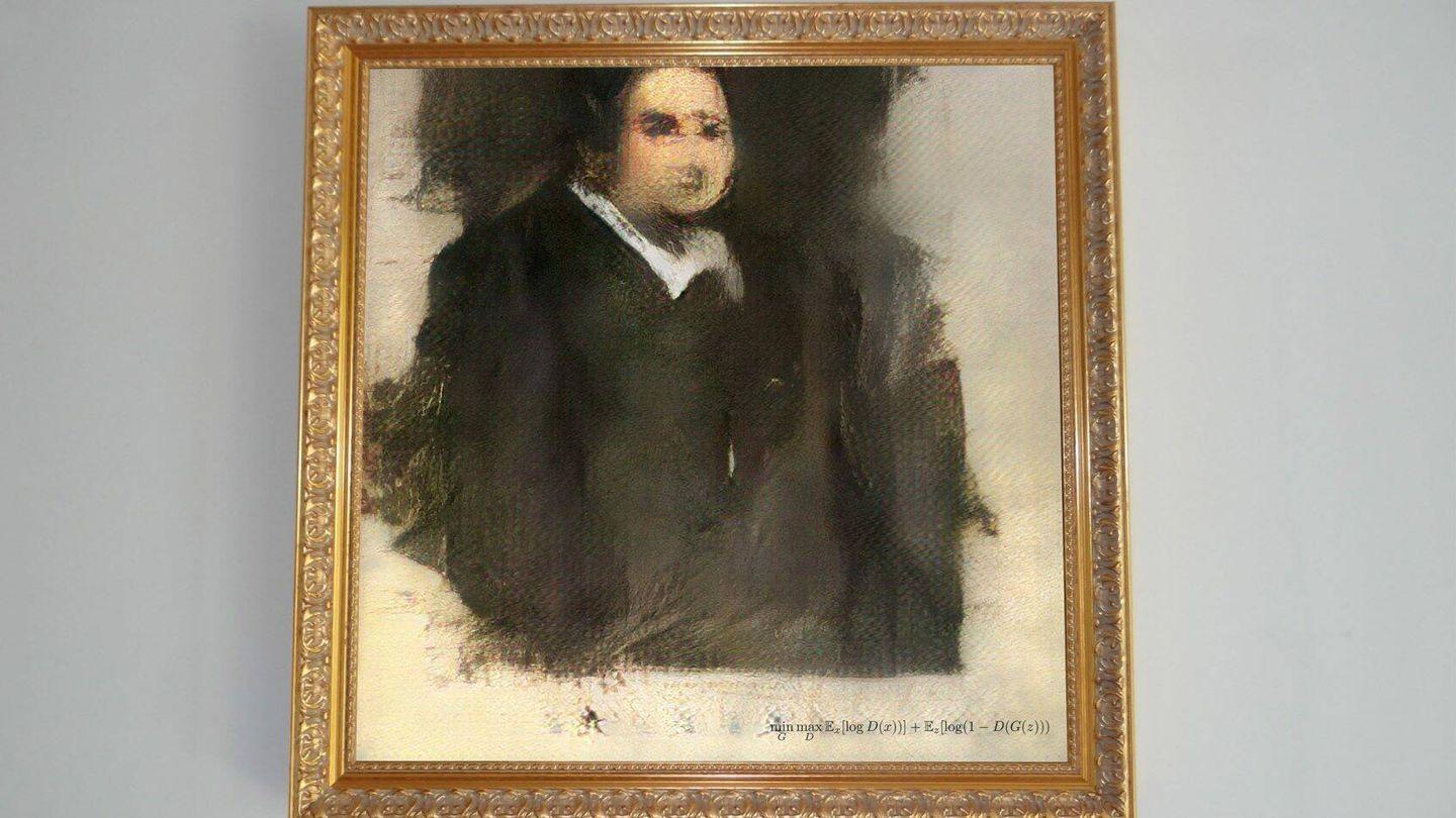 'Portrait of Edmond de Belamy' un cuadro creado por una IA.