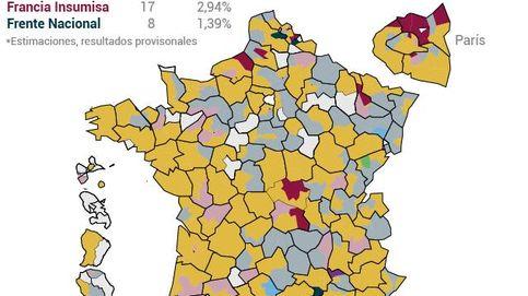 El 'mapa' de los resultados de las elecciones en Francia: así queda la Asamblea de Macron