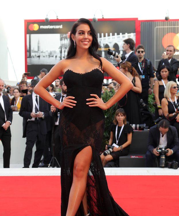 Foto: Georgina Rodríguez, espectacular en el Festival de Venecia. (Getty)