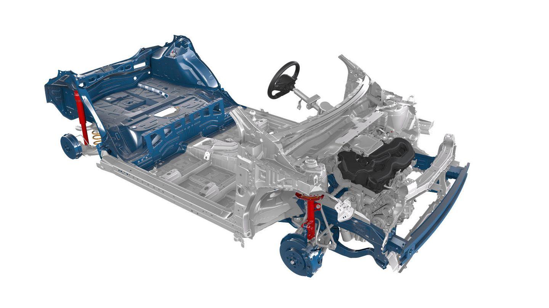 La plataforma GA-B del grupo Toyota es la que emplean sus nuevos modelos utilitarios, entre ellos el Yaris.
