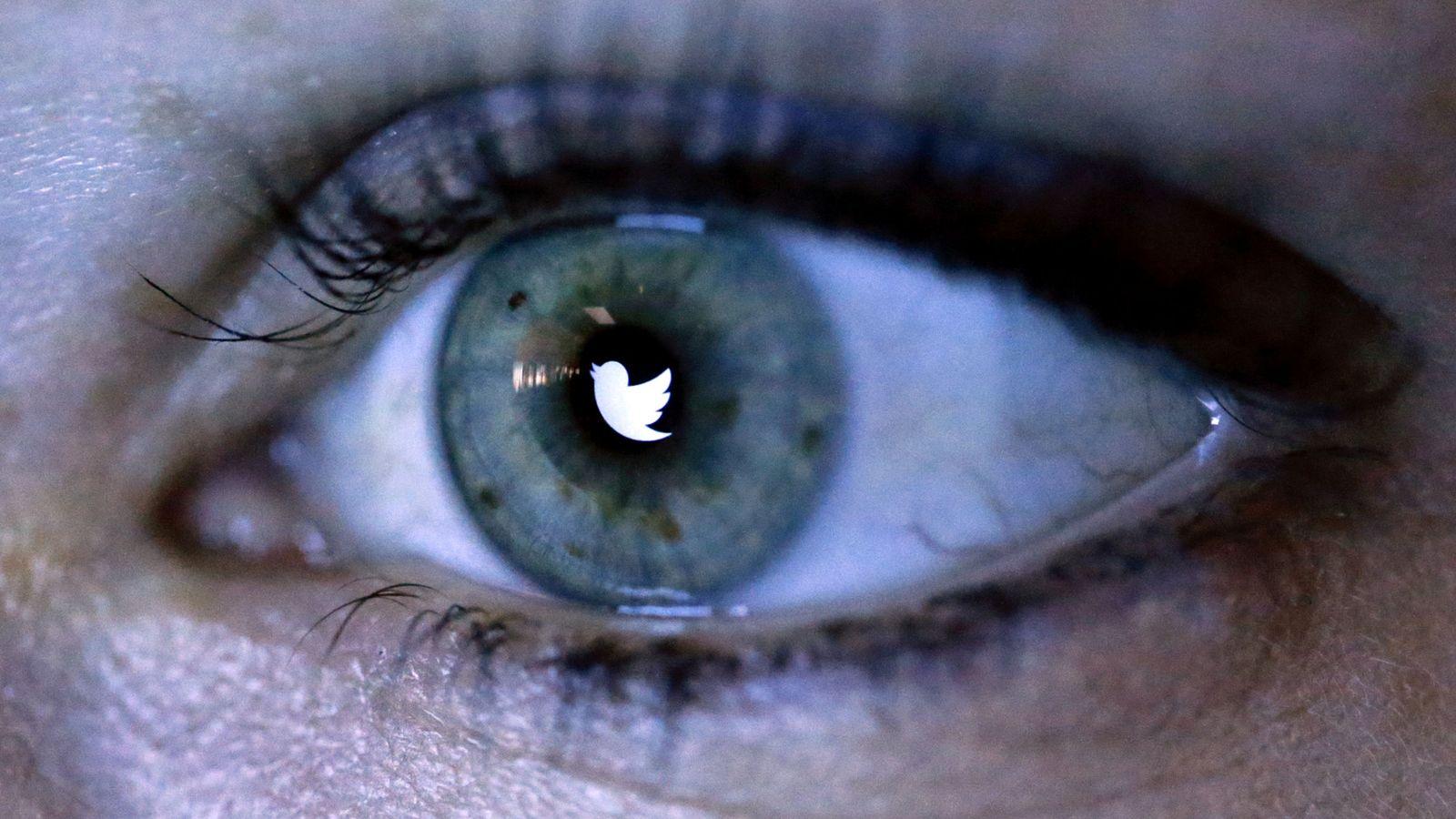 Foto: Ilustración con el logo de Twitter reflejado en un ojo. (Reuters)