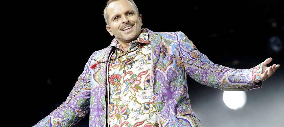 Foto: Miguel Bosé durante uno de sus conciertos (Gtres)