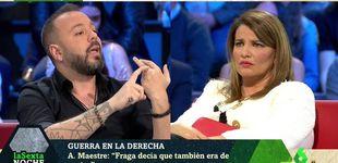 Post de Antonio Maestre y María Claver, a gritos en 'La Sexta noche':